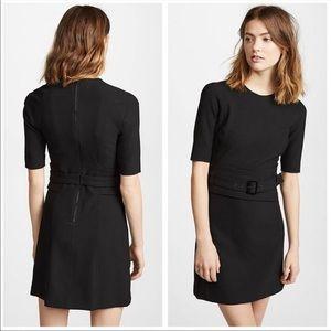 Veronica Beard Nora Belted Dress in Black
